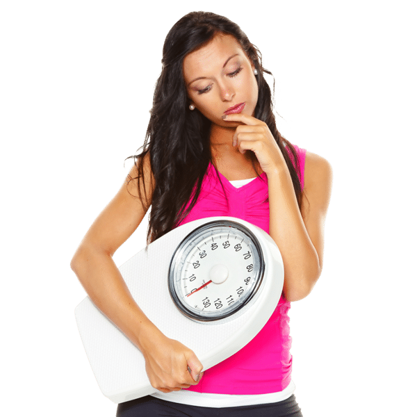 weight loss woman holding scale