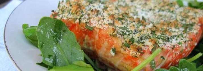 herb crushed salmon salad