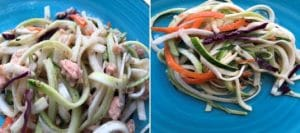 Asian Salmon Zucchini Noodle Salad